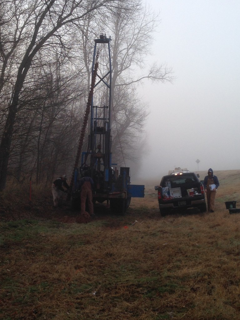 Drilling near Tishomingo, OK