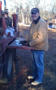 Jason Unruh on a project site in Edmond, OK