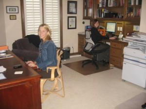 Kristi Bumpas & Michaela Varnier in the original home office of RRC