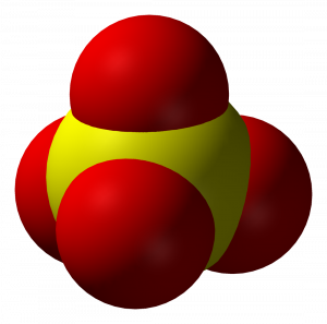 3-D Rendering of a Sulfate Ion